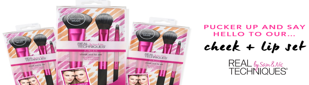 real technique lip and cheek set