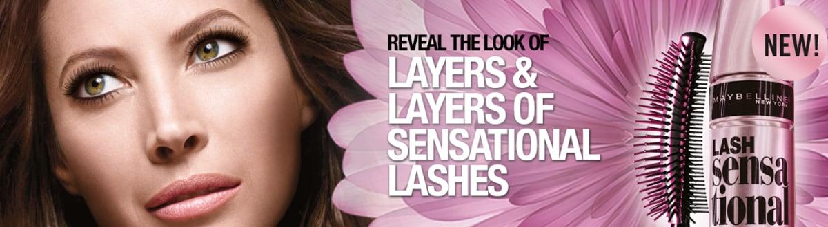 lash sensational mascara poster
