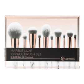 marble luxe brush set